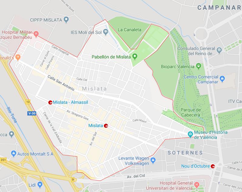 """""""Описание пригородов на западе Валенсии для покупки жилья."""" Мислата"""