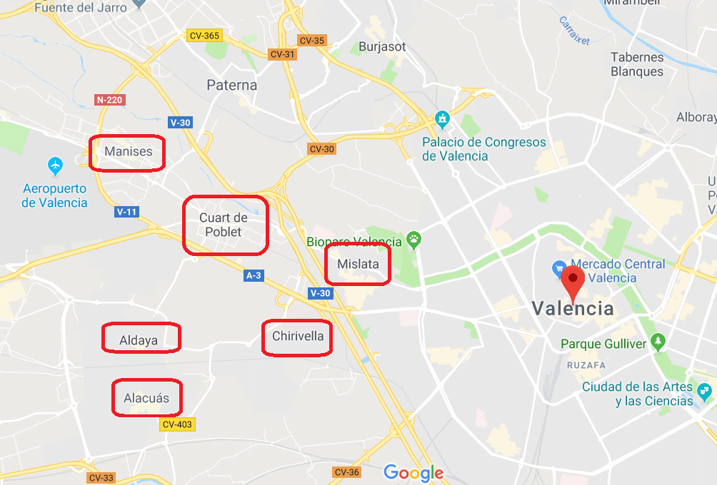 """""""Описание пригородов на западе Валенсии для покупки жилья."""""""